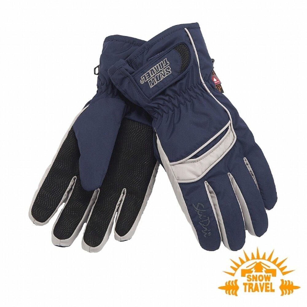 SNOWTRAVEL雪之旅 SKI-DRI防水透氣PRIMALOFT保暖手套 深藍