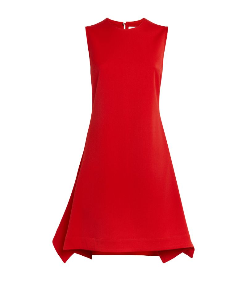 Victoria Beckham Sleeveless Flounce-Hem Dress