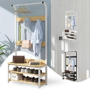 【Incare】大空間儲物衣帽掛衣架(80公分加大款/3色可選)白色