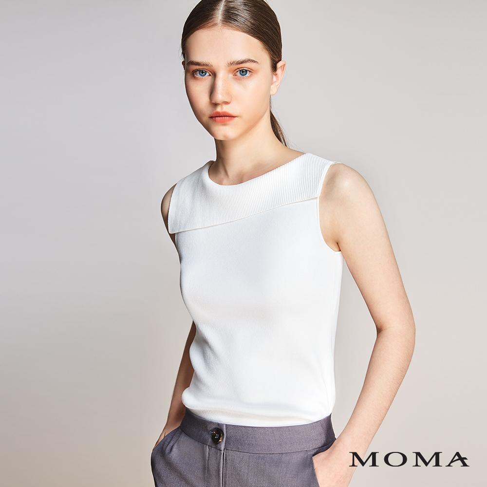 MOMA(01KM08)不對稱翻領針織背心