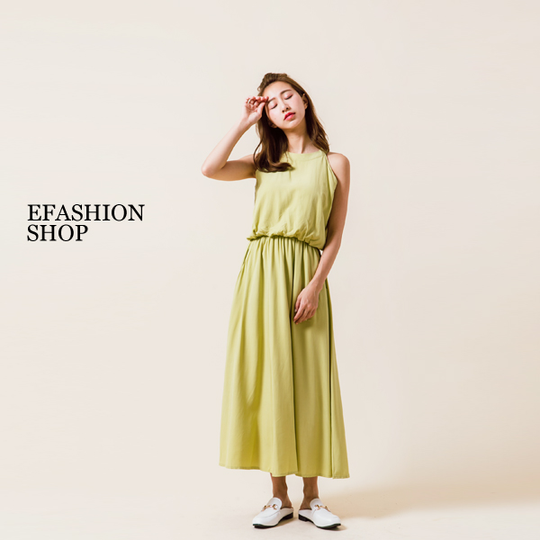 ★春夏現貨★長洋裝-削肩縮腰長洋裝-eFashion 【K12947300】