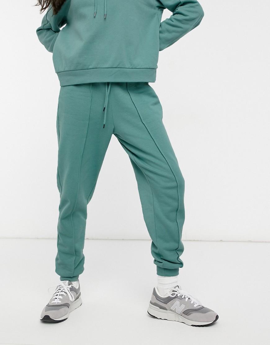 River Island seam co-ord jogger in dark green