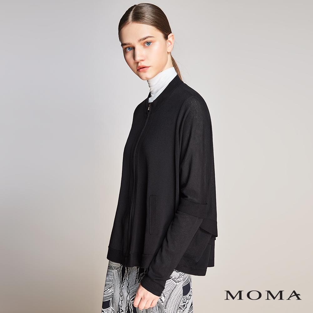 MOMA(01KJ05)蝙蝠袖針織拉鍊外套-剩餘38號