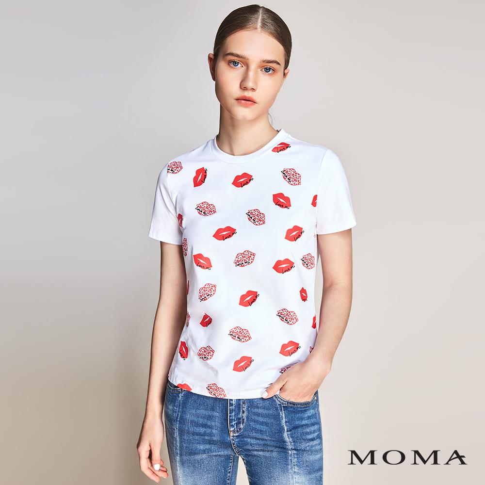 MOMA(01M002)紅唇膠印T恤-剩餘34號