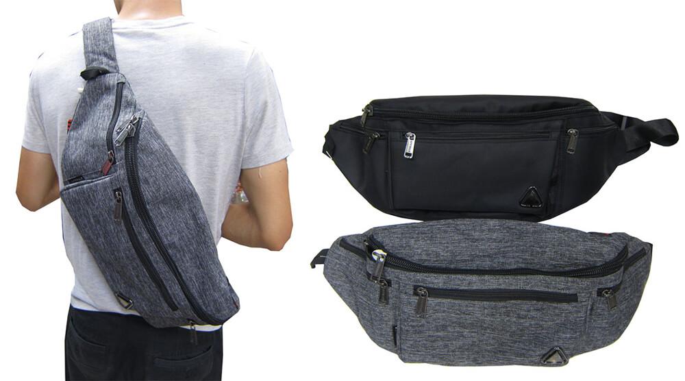 腰包臀包胸前包超大容量主袋+外袋共五層工作工具袋休閒外出隨身物品輕便防水尼龍布材質