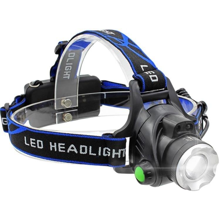 限時85折!限時搶購戶外led感應頭燈強光充電變焦頭戴式鋰電筒超亮夜釣魚疝氣礦燈小
