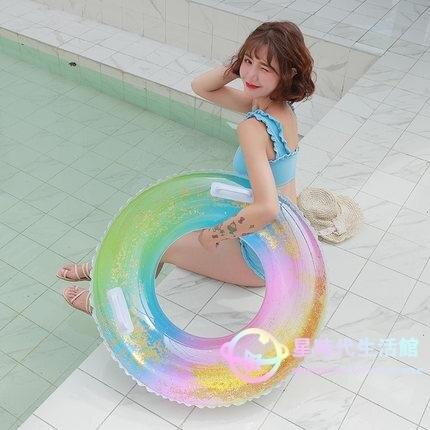 泳圈 游大人加厚男女網紅充氣救生圈大號兒童1-3-6歲成人腋下  閒庭美家
