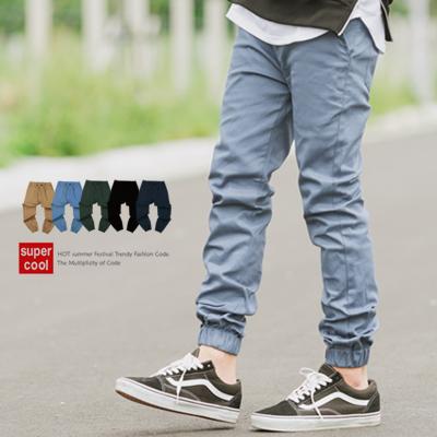【N9685J】Jogger挺版素色抽繩長褲縮口褲(SH8019)
