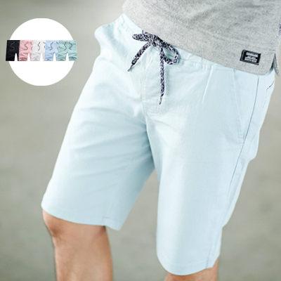 【NB0228J】夏日舒適彈性素面抽繩休閒短褲(JK4201)