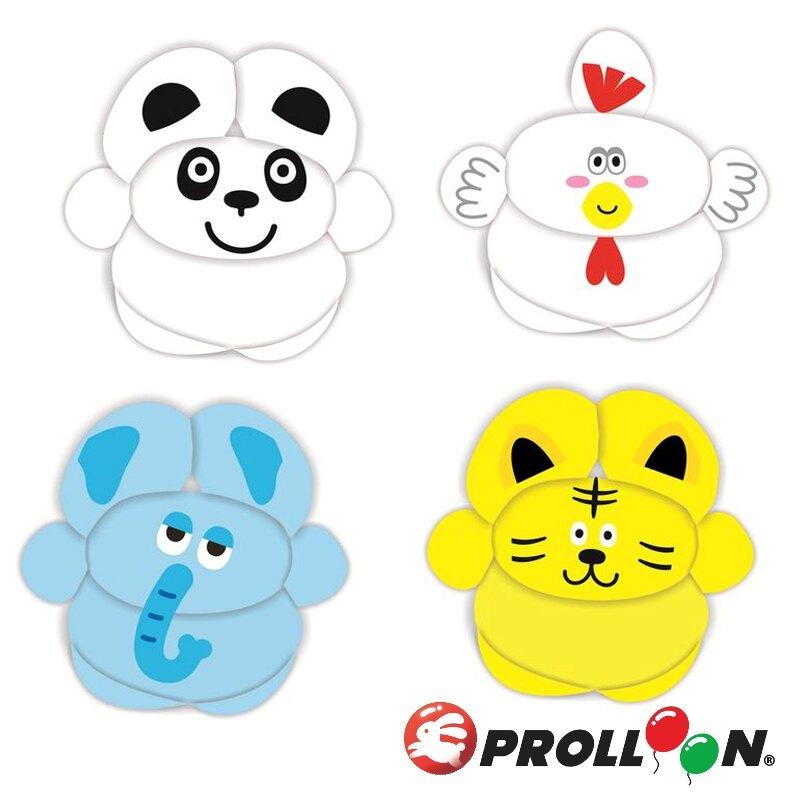 【大倫氣球】動物臉孔貼紙 Animal Face Stickers 共 4 張貼紙(不含氣球) 氣球貼紙 動物貼紙