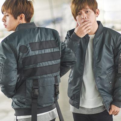 【NB0082J】美式風格後扣帶大口袋 飛行外套(SH117-9029)