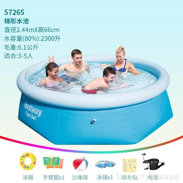 台灣現貨 游泳池家用大人兒童加厚家庭小孩成人戶外戲水池 新年鉅惠