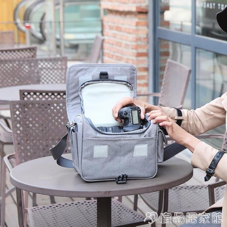 攝影包 佳能相機包單反微單單肩男女攝影背包6D2800D80D200D二代90DM6M50 限時折扣