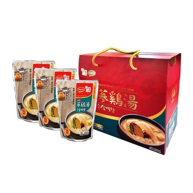韓味不二 夏林鮑魚蔘雞湯禮盒(1kg*3)
