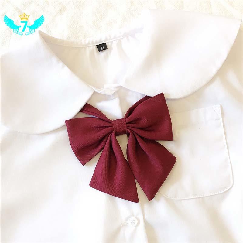 日本學校JK制服領結的女孩蝴蝶領結純色學校水手服制服配件WF套裝學生性感新款誘惑