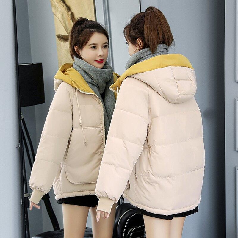 羽絨棉服少女冬裝外套2021新款韓版寬松初中高中學生短款棉衣棉襖