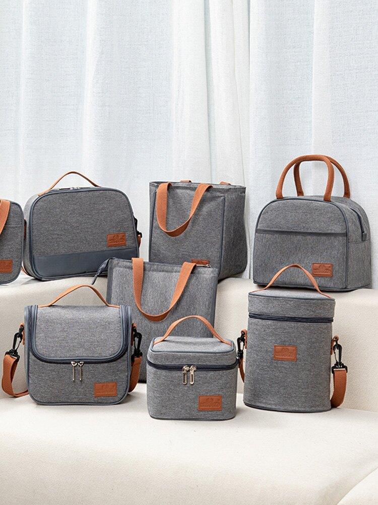 保溫便當包 飯盒手提包鋁箔加厚帶飯包上班族裝飯盒手提袋子便當袋大號保溫袋【MJ6081】
