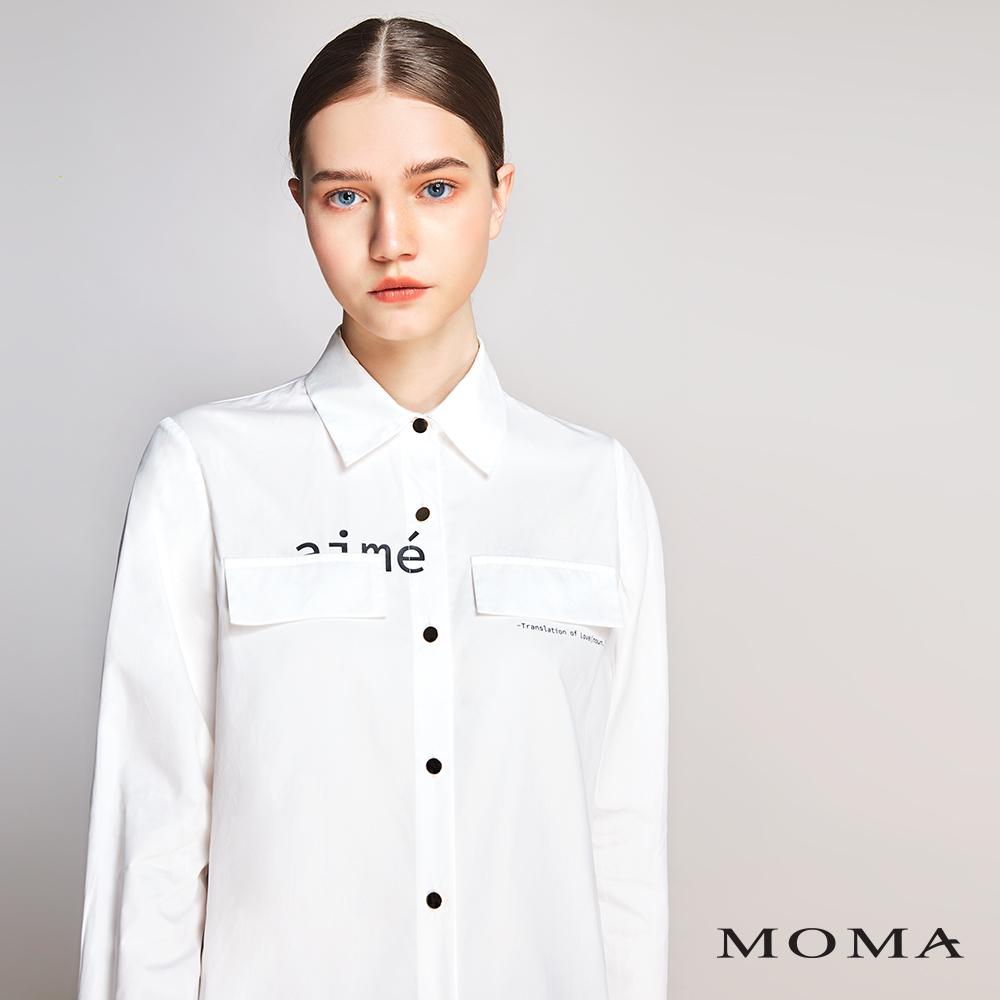 MOMA(01B007)個性英文字襯衫