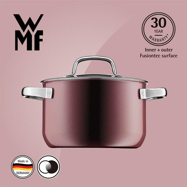 德國WMF Fusiontec 高身湯鍋 20cm 3.7L (金屬玫瑰 赭紅色)