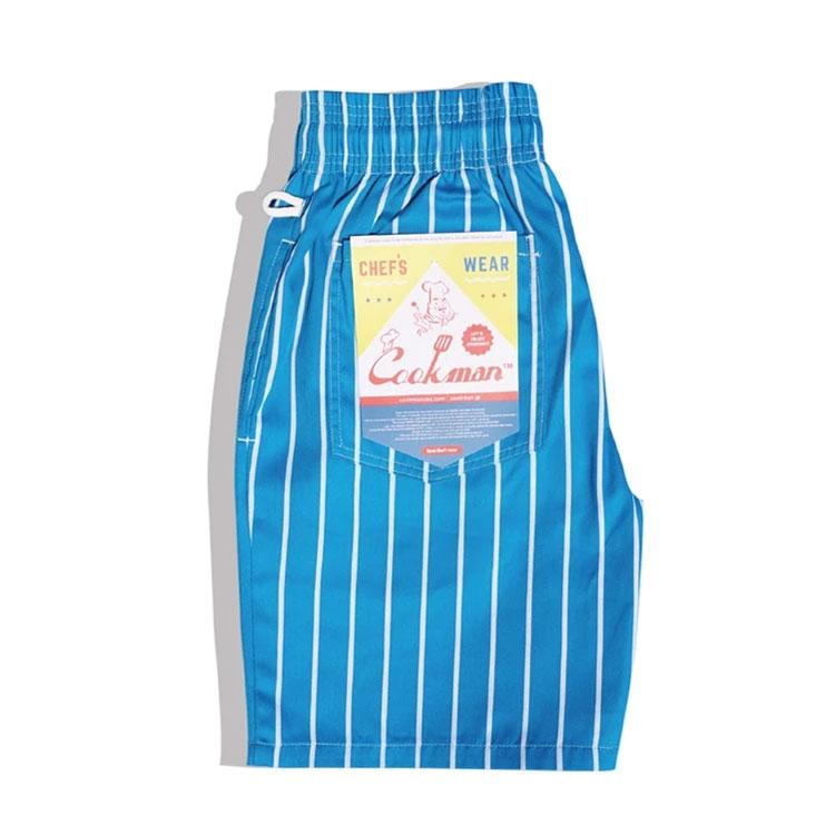 Cookman USA - 231-01809 Chef Short Pants 廚師短褲 / 休閒短褲 (淺藍直條)