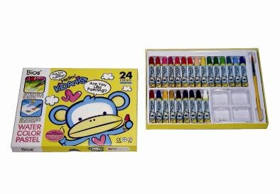 618購物節【自強文具】OP-102-24A 水溶性六角型粉腊筆 / 盒