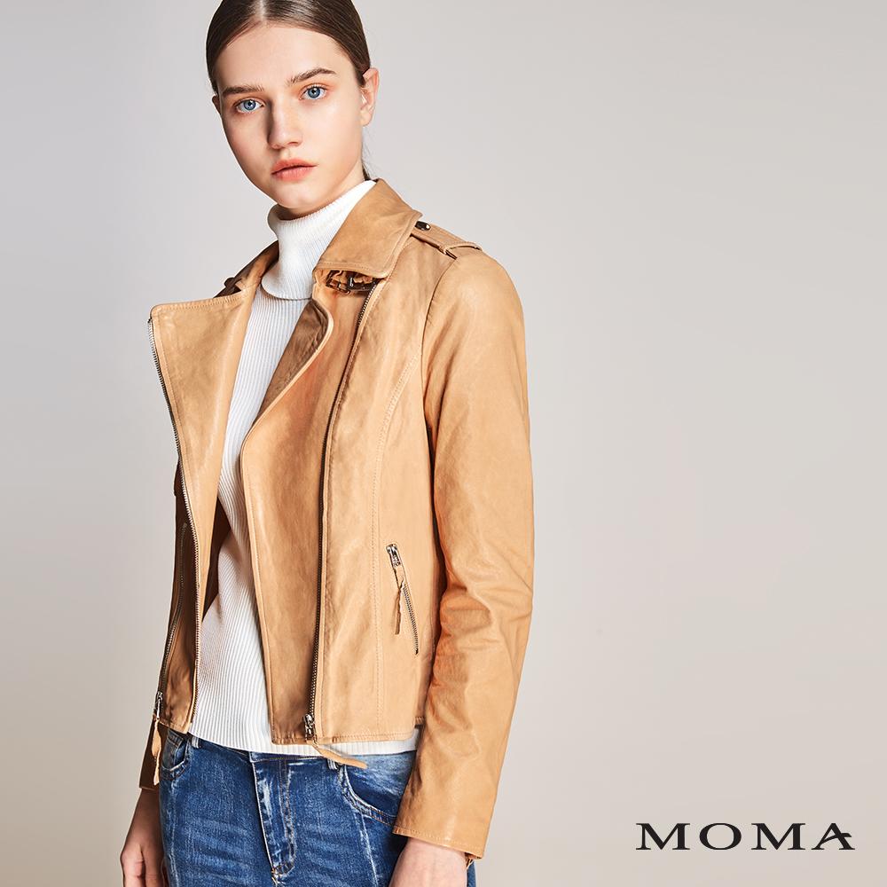 MOMA(01J043)植鞣羊皮外套
