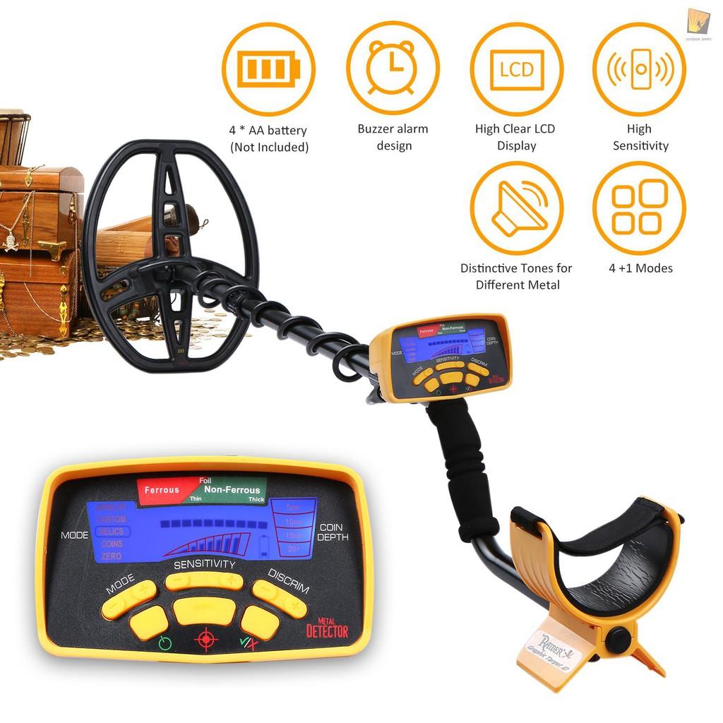 MD6350地下金屬探測器探寶器黃金銀元銅板探測器高靈敏度精准定位聲音可調4種探測模式+1種自定義模式不帶耳機/ 不帶電