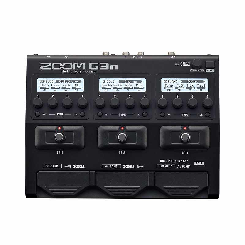 Zoom 音效處理器 G3n 70種音效 Guitar Multi-Effects Processor Pedal [2美國直購]