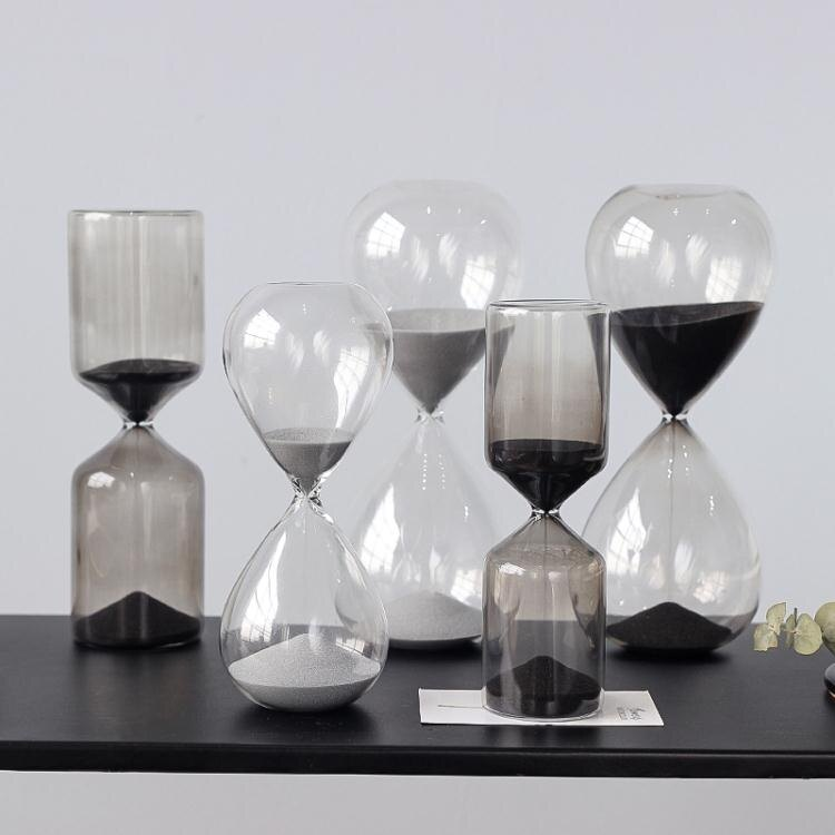 [新年快樂]現代簡約沙漏計時器擺件創意北歐客廳酒柜家居裝飾品兒童生日禮物