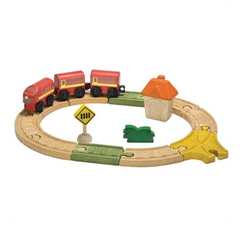 泰國PLAN TOYS 小小鐵道迷-木質圓形軌道火車組