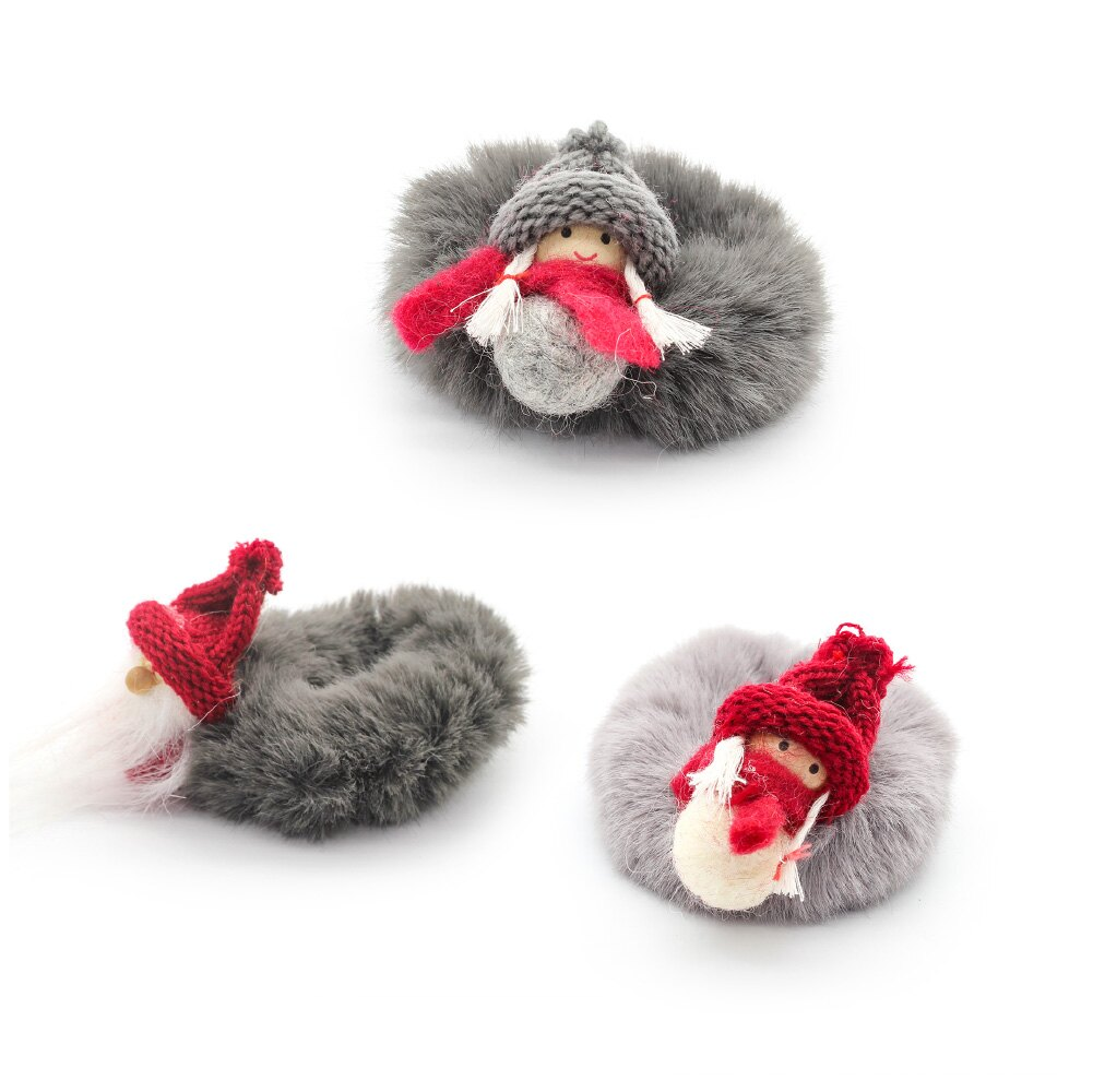 韓國熱銷款 絨毛聖誕髮圈