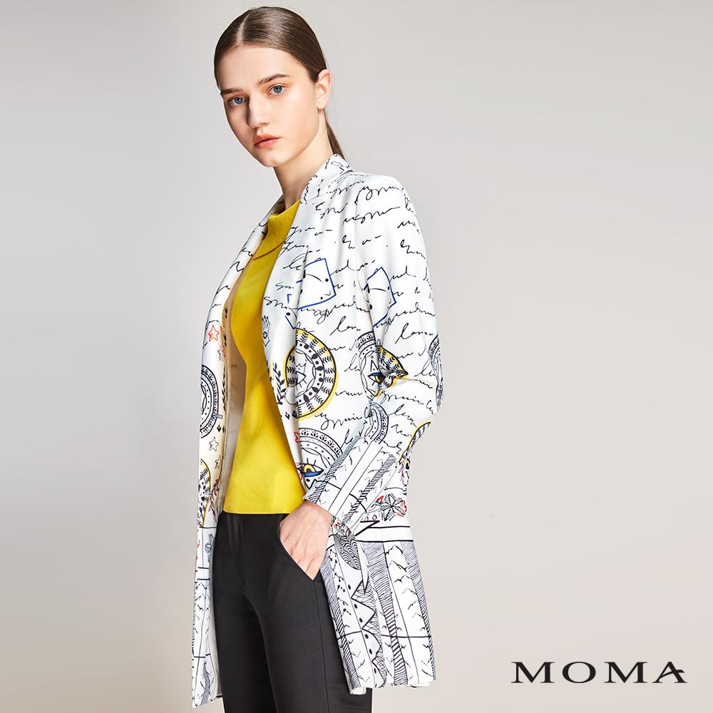 MOMA(01J013)摩登圖騰西裝外套