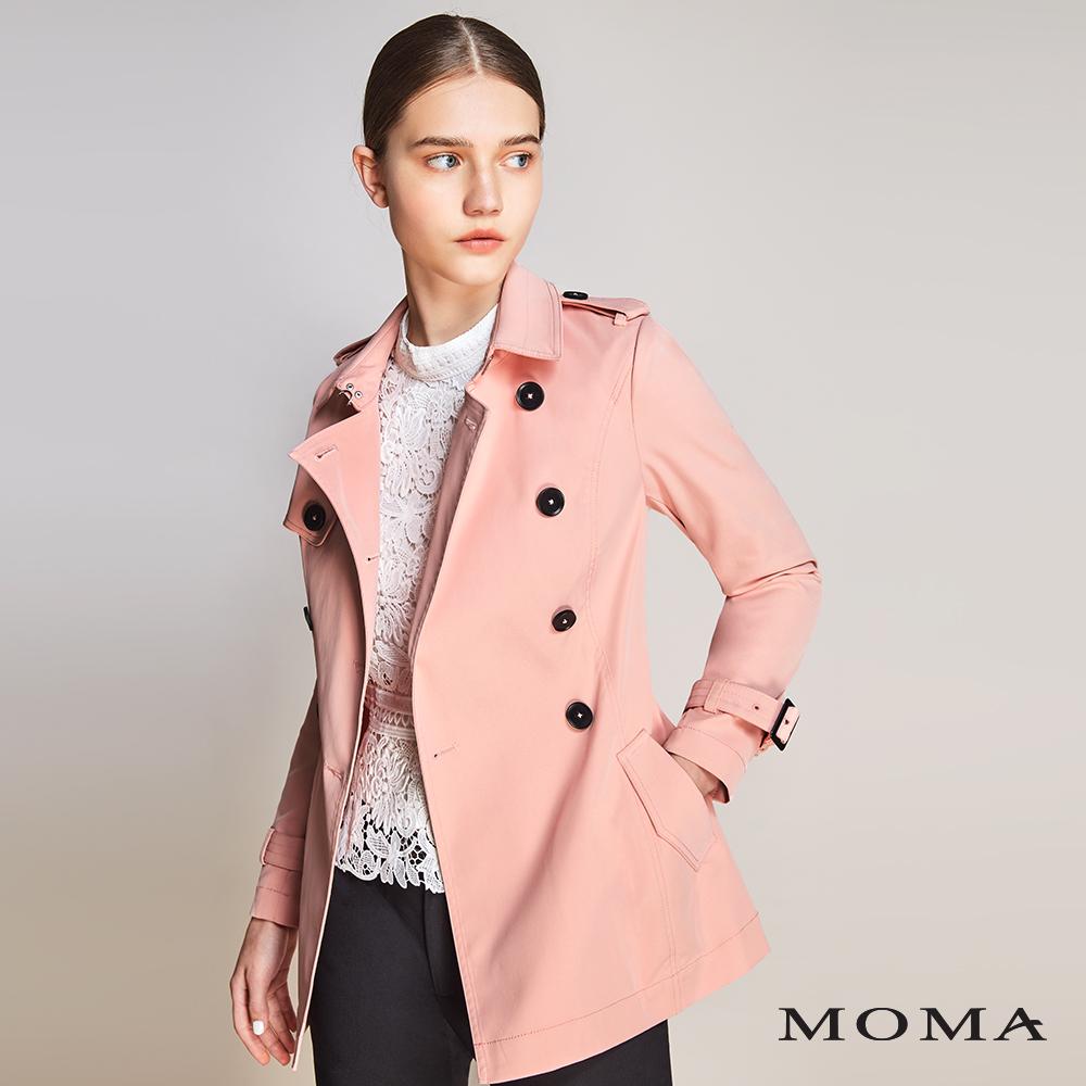MOMA(01J018)雙排釦風衣外套