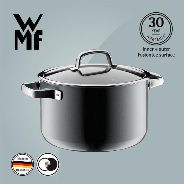 德國WMF Fusiontec 高身湯鍋 24cm 6.4L (鉑灰色)