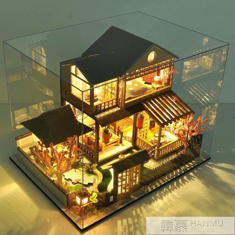 台灣現貨 diy小屋日式別墅櫻庭居手工製作材料大型房子模型玩具生日禮物女 新年鉅惠