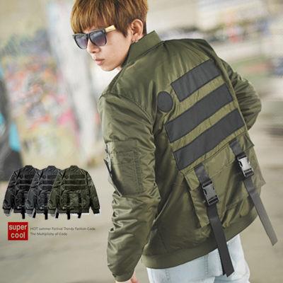 【NB0082J】美式風格後扣帶大口袋飛行外套(SH117-9029)