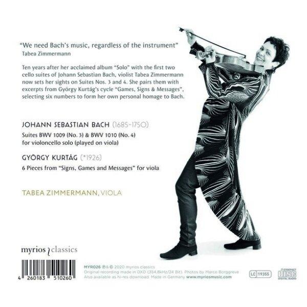 【停看聽音響唱片】【CD】塔碧亞.齊瑪曼 中提琴獨奏專輯第二集 巴哈/庫泰格