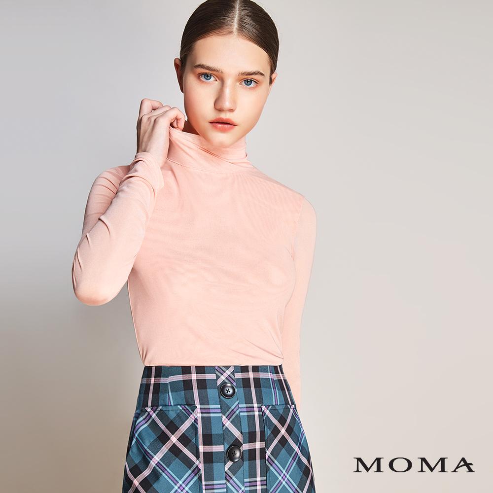 MOMA(01M037)牛奶絲抽皺袖上衣
