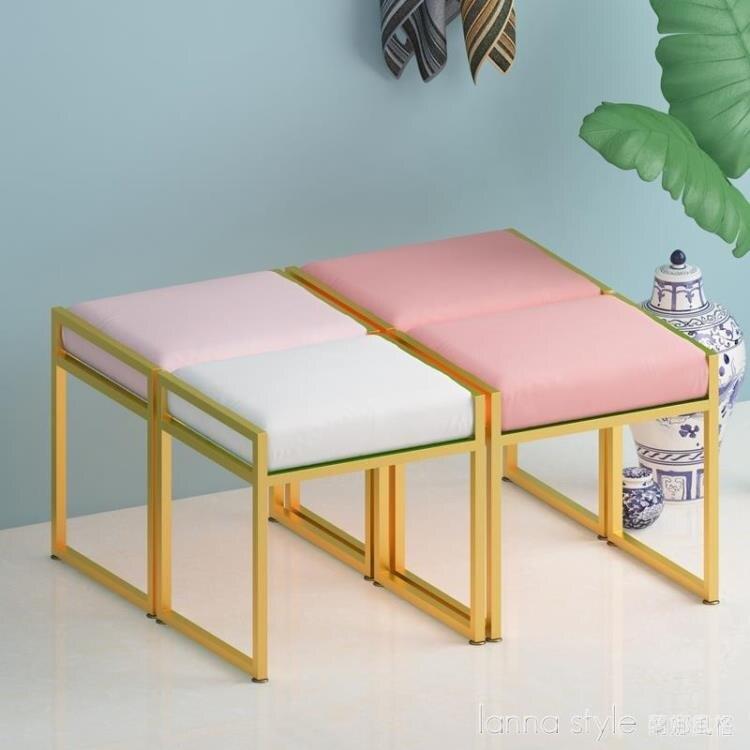 台灣現貨 現代簡約臥室公主少女心梳妝台凳子北歐ins網紅化妝椅歐式美甲椅 新年鉅惠