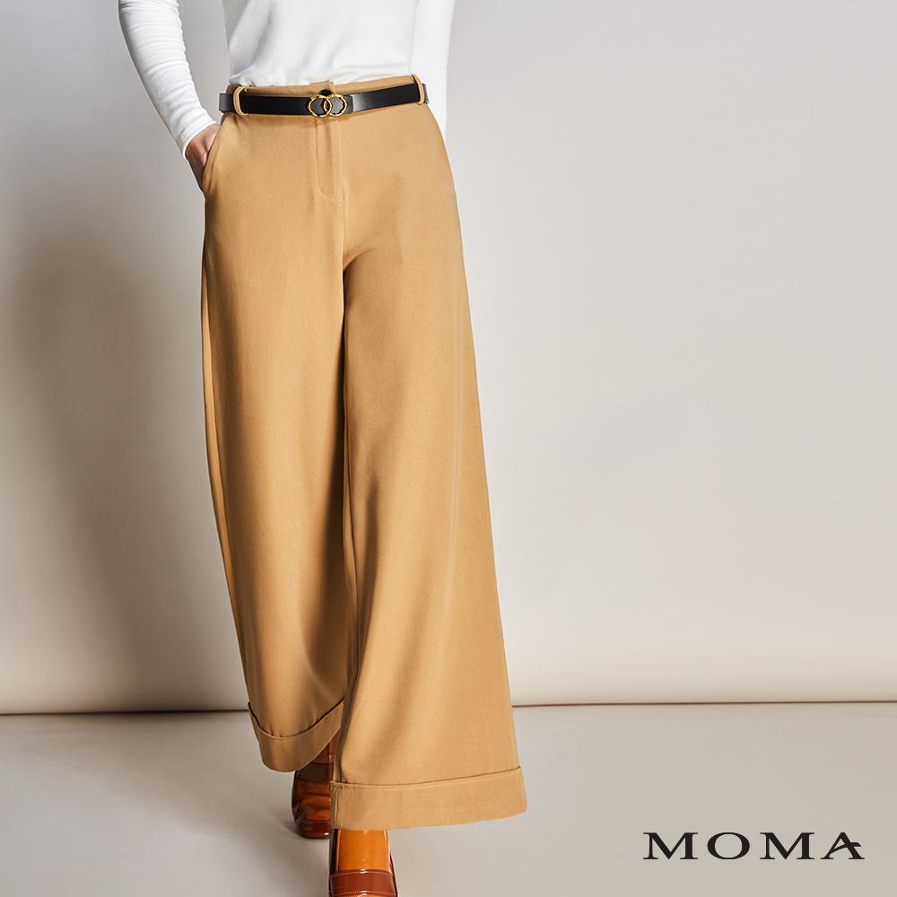 MOMA(01P036)摩登反摺寬褲