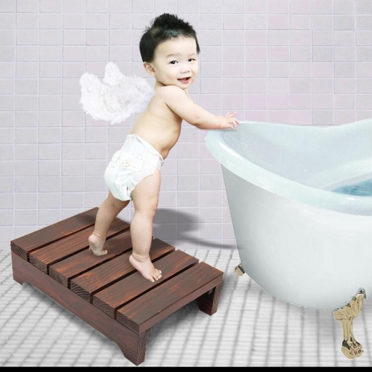 台灣現貨 多功能實木高台階腳踏板淋浴室防滑墊腳陽台放搭腳擱腳換鞋凳 NMS 新年鉅惠