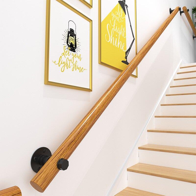樓梯扶手 歐式樓梯扶手簡約現代家用靠墻實木室內走廊閣樓幼稚園防滑木扶手『CM41519』