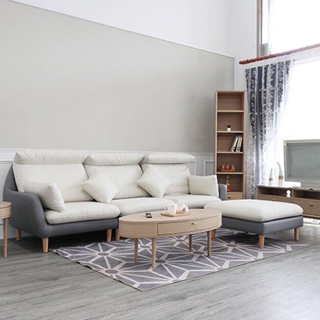 沙發 四人位加腳椅 北歐 簡約 現代【A23-L】品歐家具