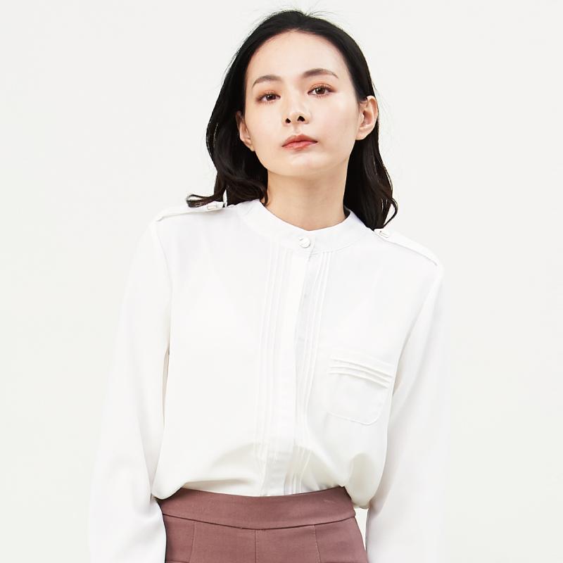 HS 襯衫之襯衫衣 簡約白