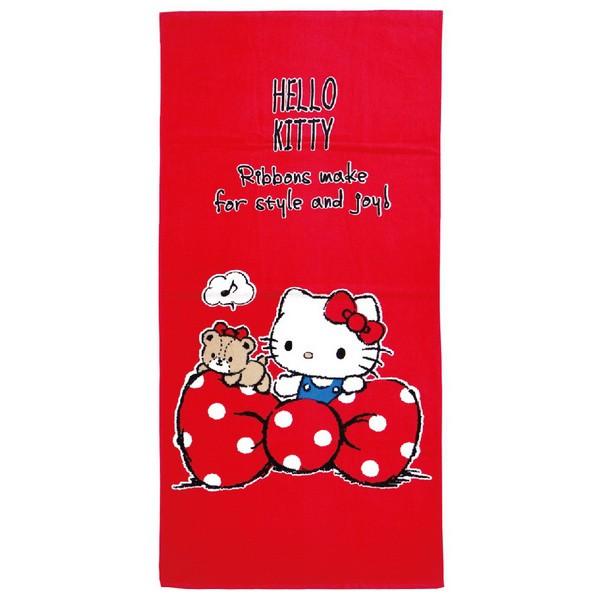 凱蒂貓愛蝴蝶結浴巾【康是美】