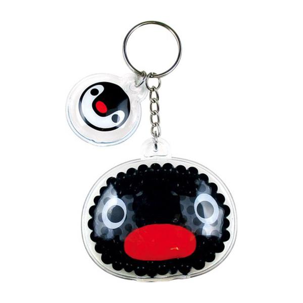 《企鵝家族》凝膠軟珠鑰匙圈-PINGU大臉