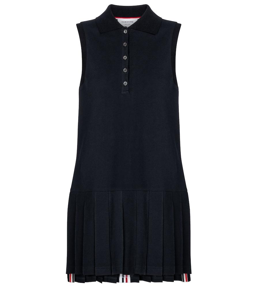 Cotton polo minidress