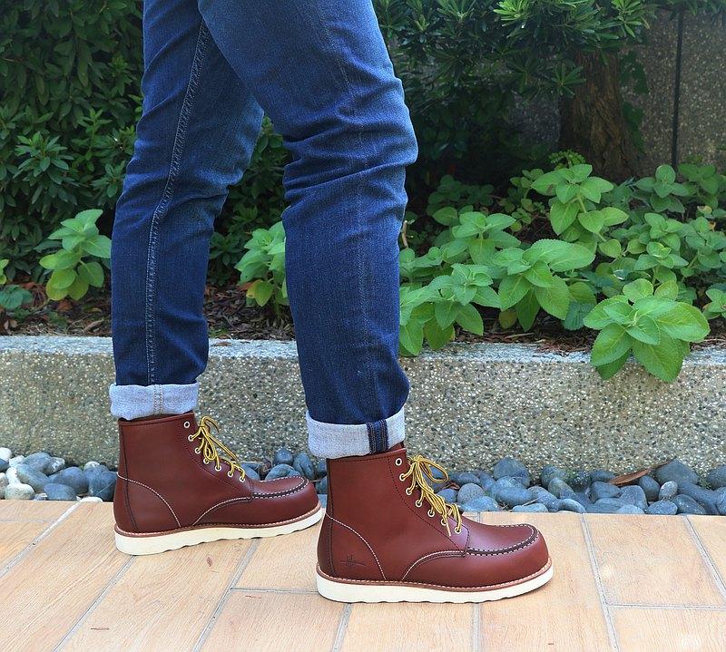 MIT【真皮工裝靴-男款深咖】美式 英倫風 馬丁鞋 休閒靴 經典復古