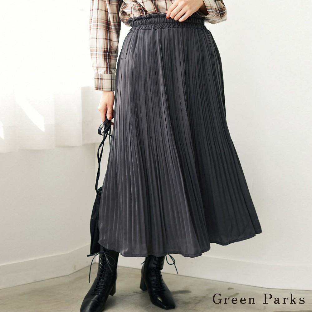 Green Parks 褶邊緞面百褶裙(6P03L0L0100)
