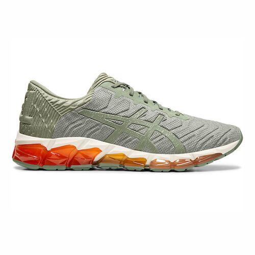 Asics Gel-quantum 360 5 [1021A186-300] 男鞋 運動 休閒 慢跑 舒適 輕量 灰 橘